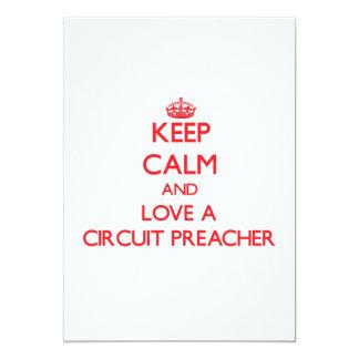 Mantenha a calma e ame um pregador do circuito convite 12.7 x 17.78cm