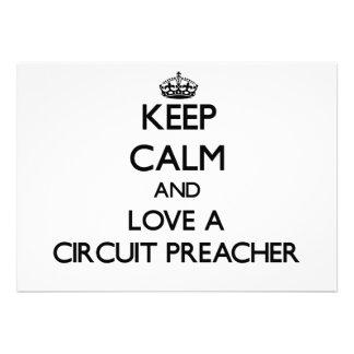 Mantenha a calma e ame um pregador do circuito