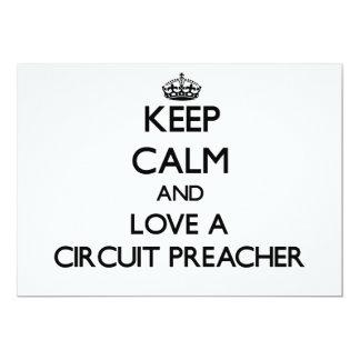 Mantenha a calma e ame um pregador do circuito convites personalizado
