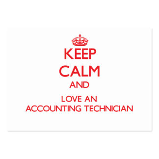 Mantenha a calma e ame um técnico da contabilidade cartoes de visitas