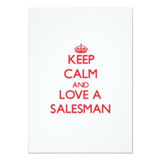 Mantenha a calma e ame um vendedor convite personalizado