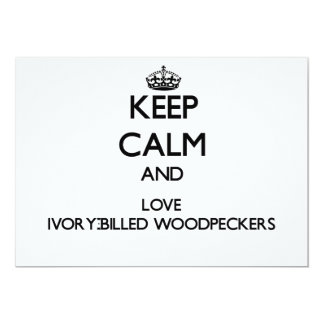 Mantenha a calma e ame Woodpeckers Convites Personalizados