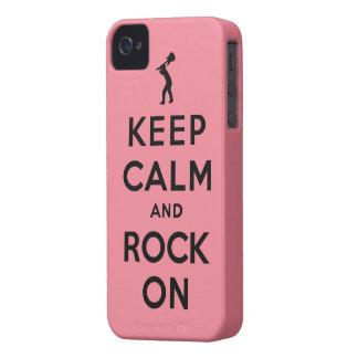 Mantenha a calma e balance-a sobre capa para iPhone