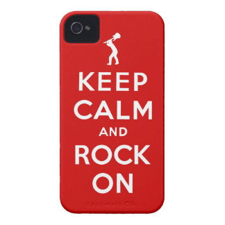 Mantenha a calma e balance-a sobre capinha iPhone 4