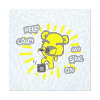 Mantenha a calma e cante-a no impressão das canvas