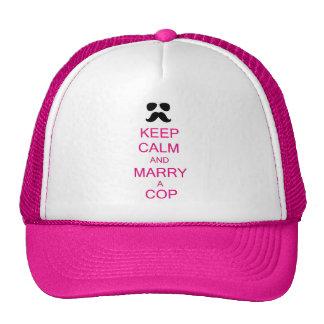 Mantenha a calma e case um chapéu das mulheres da  boné