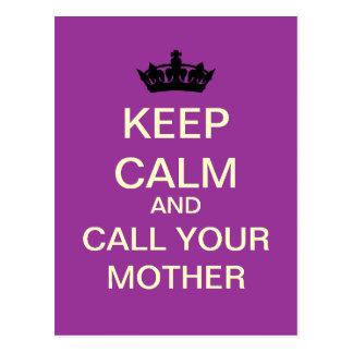 MANTENHA a CALMA e chame seu cartão da mãe (a