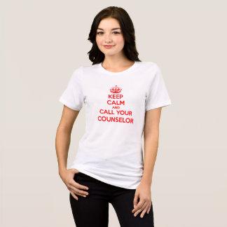 Mantenha a calma e chame seu t-shirt do camiseta