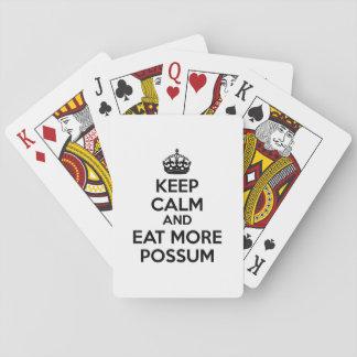 Mantenha a calma e coma mais gambá jogo de baralho