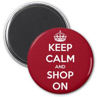 Mantenha a calma e comprar no círculo vermelho e ímã redondo 5.08cm