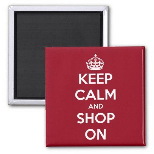 Mantenha a calma e comprar no quadrado vermelho e ima