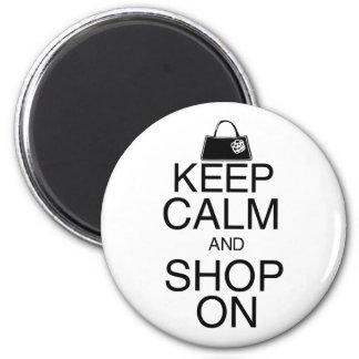 Mantenha a calma e comprar sobre ímã redondo 5.08cm