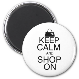 Mantenha a calma e comprar sobre ima