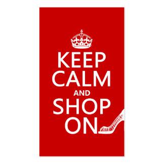 Mantenha a calma e comprar sobre - todas as cores cartoes de visita
