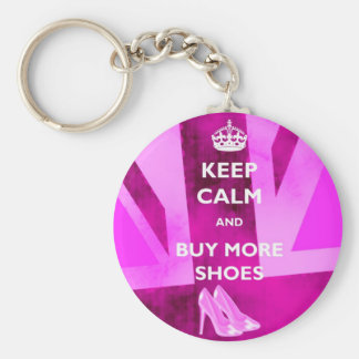 Mantenha a calma e compre mais Keyring dos calçado Chaveiro