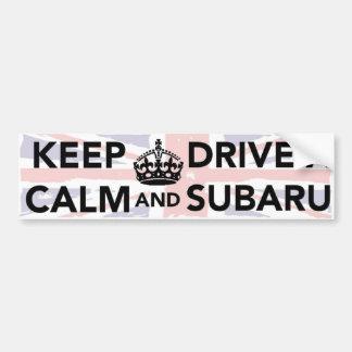 Mantenha a calma e conduza um autocolante no vidro adesivo para carro