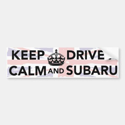 Mantenha a calma e conduza um autocolante no vidro adesivos