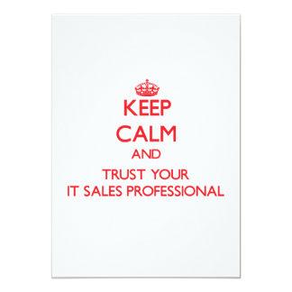 Mantenha a calma e confie-a seu as vendas convites