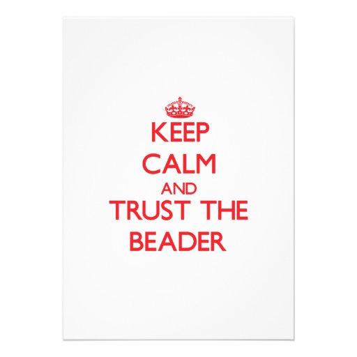 Mantenha a calma e confie o Beader Convites Personalizados