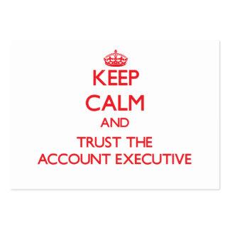 Mantenha a calma e confie o contabilista cartão de visita grande