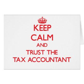 Mantenha a calma e confie o contador do imposto cartões