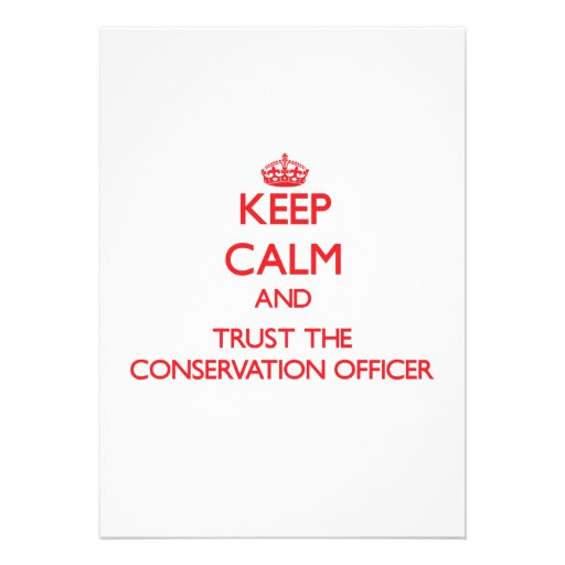 Mantenha a calma e confie o oficial da conservação convites personalizado