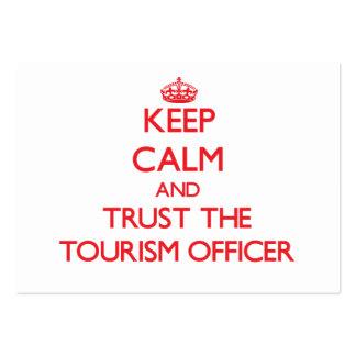 Mantenha a calma e confie o oficial do turismo modelos cartão de visita