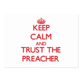 Mantenha a calma e confie o pregador cartão de visita grande