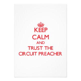 Mantenha a calma e confie o pregador do circuito convite