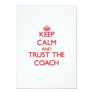 Mantenha a calma e confie o treinador convites