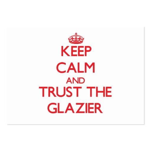 Mantenha a calma e confie o vidraceiro modelos cartoes de visita