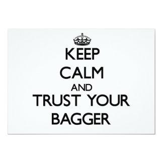 Mantenha a calma e confie seu Bagger Convites