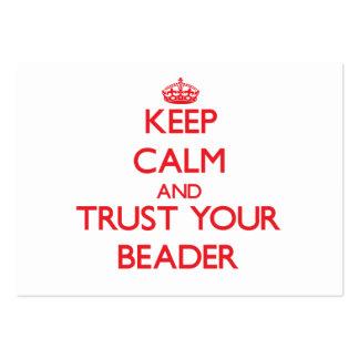 Mantenha a calma e confie seu Beader