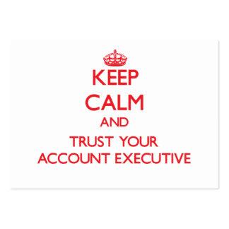 Mantenha a calma e confie seu contabilista cartões de visita