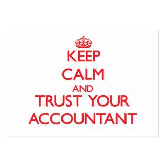 Mantenha a calma e confie seu contador modelos cartao de visita