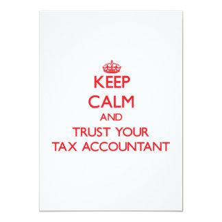 Mantenha a calma e confie seu contador do imposto convites