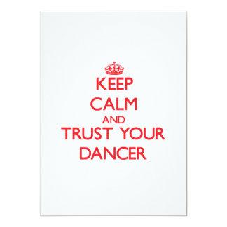 Mantenha a calma e confie seu dançarino convite