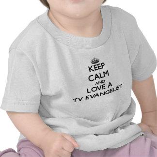 Mantenha a calma e confie seu evangelista da tevê t-shirt