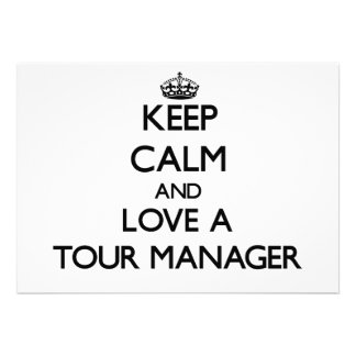 Mantenha a calma e confie seu gerente da excursão convite personalizado