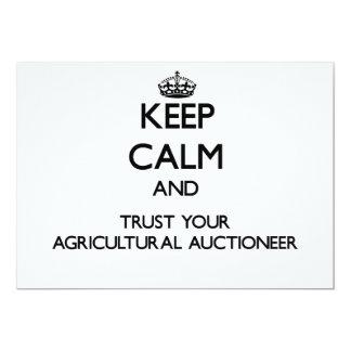 Mantenha a calma e confie seu leiloeiro agrícola convites