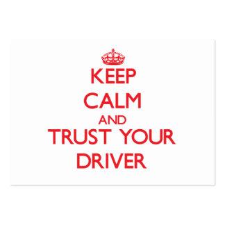 Mantenha a calma e confie seu motorista