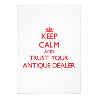 Mantenha a calma e confie seu negociante antigo