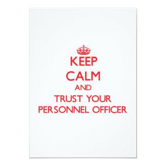 Mantenha a calma e confie seu oficial de pessoais convite 12.7 x 17.78cm