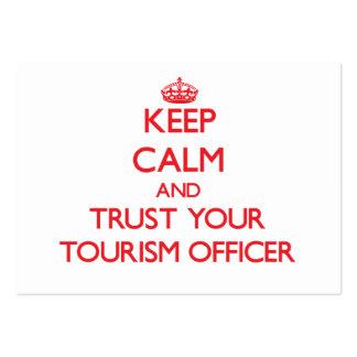 Mantenha a calma e confie seu oficial do turismo