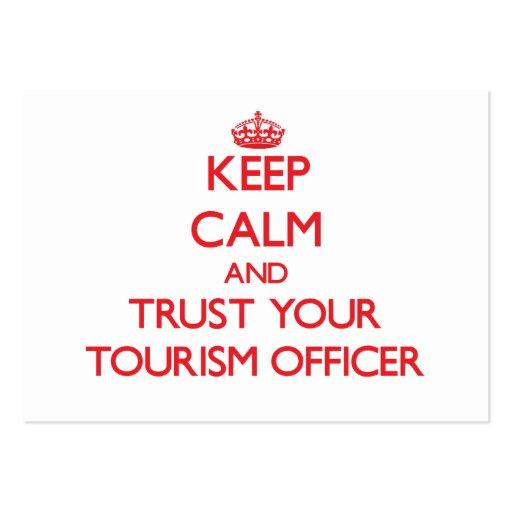 Mantenha a calma e confie seu oficial do turismo cartão de visita