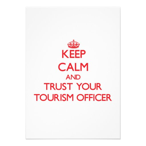 Mantenha a calma e confie seu oficial do turismo convite personalizado