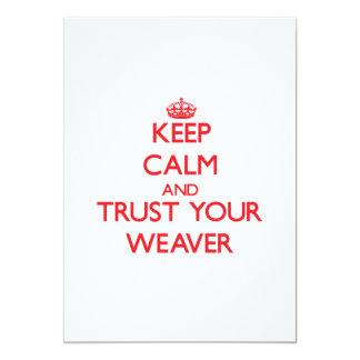 Mantenha a calma e confie seu tecelão convite