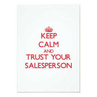 Mantenha a calma e confie seu vendedor convite