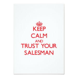 Mantenha a calma e confie seu vendedor convites personalizado