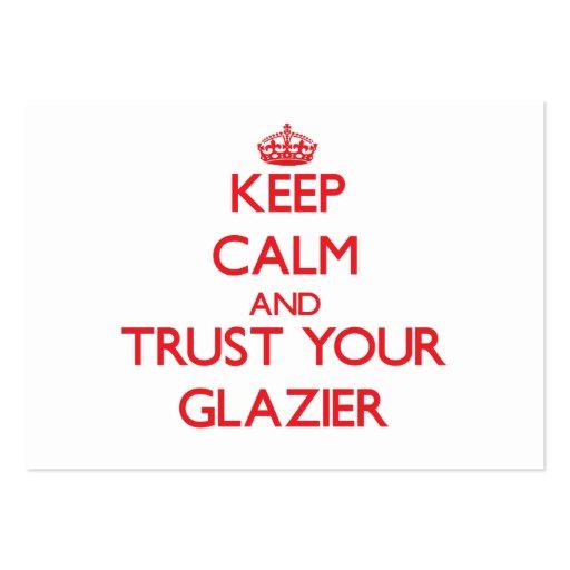 Mantenha a calma e confie seu vidraceiro modelos cartoes de visita